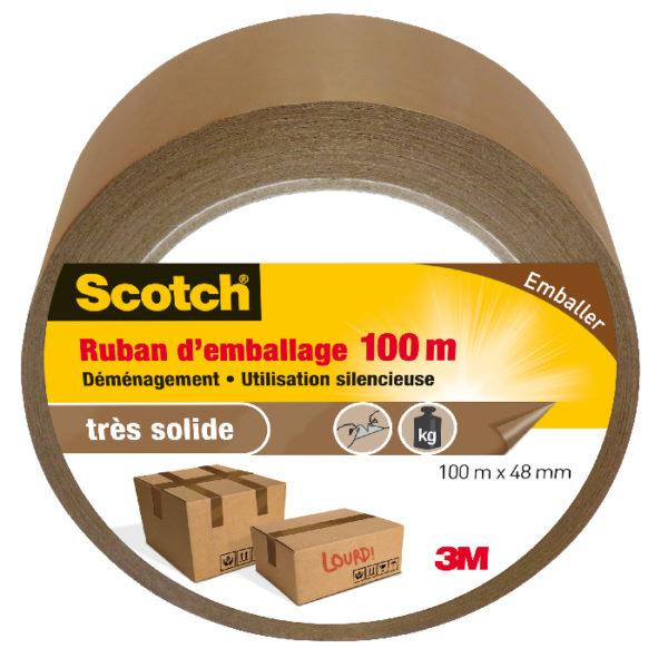 Scotch® Ruban d'Emballage Découpable à la Main Marron