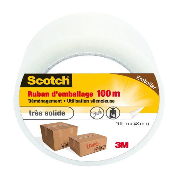 Scotch® Ruban d'Emballage Découpable à la Main Transparent