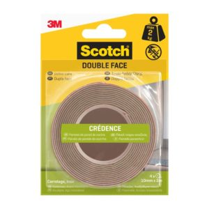 Scotch® Double Face Crédence Blanc 2m