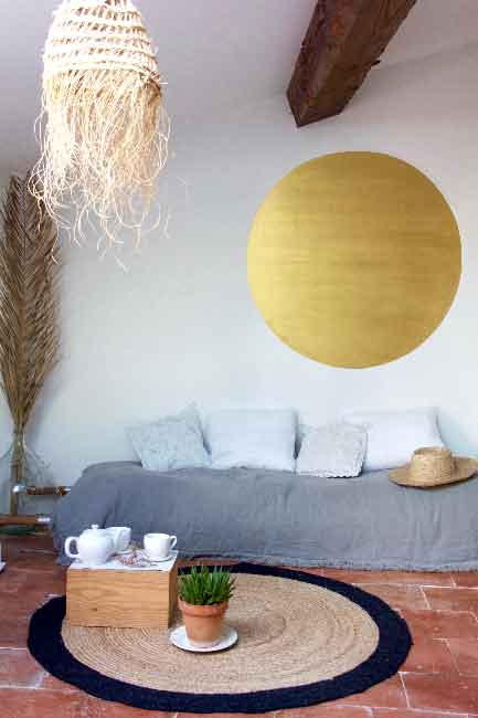 Peindre un cercle sur le mur sans bavure