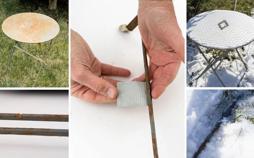 Réparer une table de jardin en métal sans outils