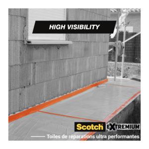 Toile de Réparation Scotch® UNIVERSAL HIGH VISIBILITY Orange 25m
