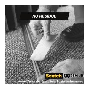 Toile de Réparation Extremium™ NO RESIDUE Gris