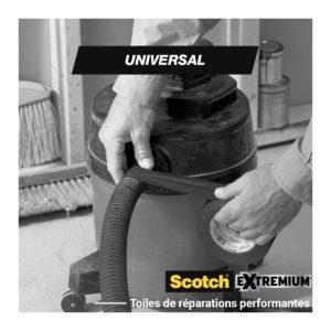 Toile de Réparation Scotch® UNIVERSAL Blanc 10m